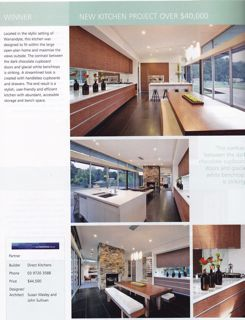 Winner of 2010 hia victorian new kitchen project over 40 000 award eco edge homes Hia kitchen design course