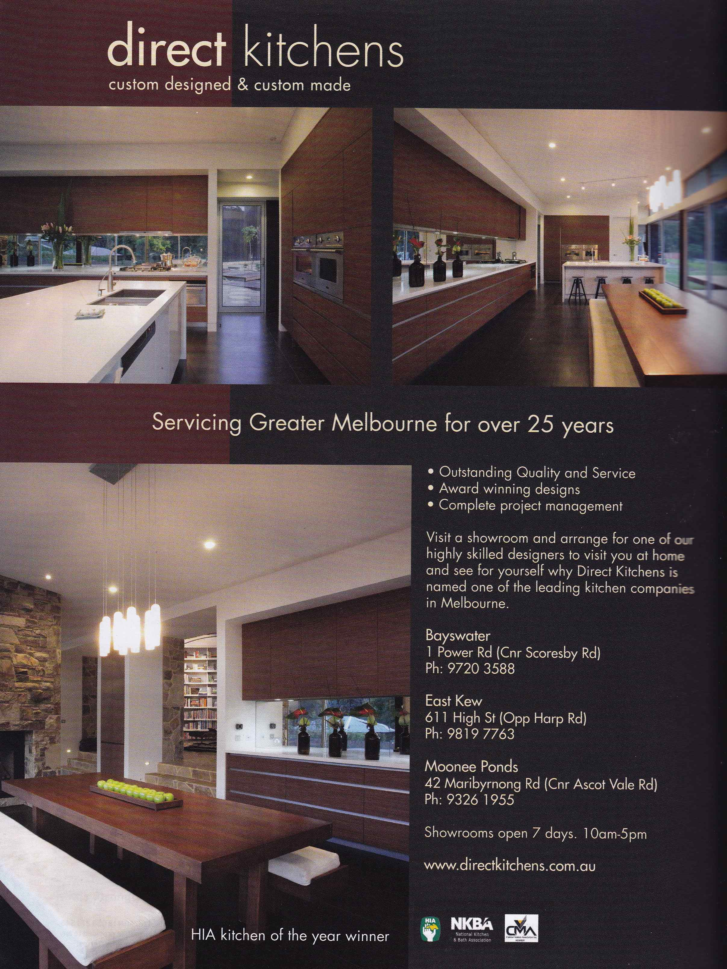 House and Garden-Full page advertisement Direct Kitchens